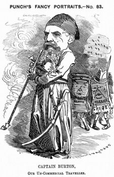 Cartoon caricature of Richard Francis Burton