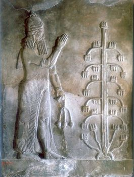 Stone relief artifact depicting Sargon I of Mesopotamia