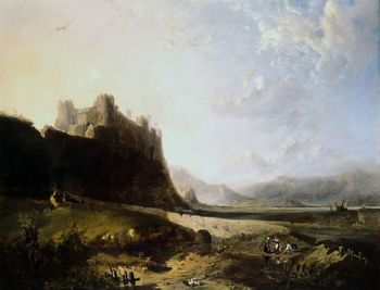 Painting of Harlech Castle in Wales