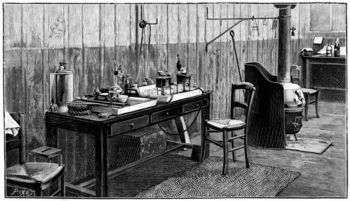 Corner of the laboratory of Pierre and Marie Curie