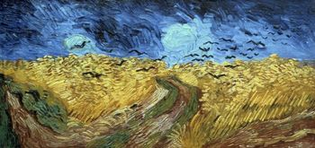Painting Crows Over Wheatfield by Van Goh