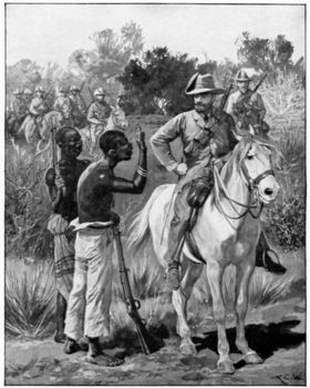 Louis Botha receiving intelligence from native spy