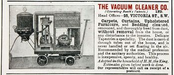 Vintage advertisement for vacuum cleaner