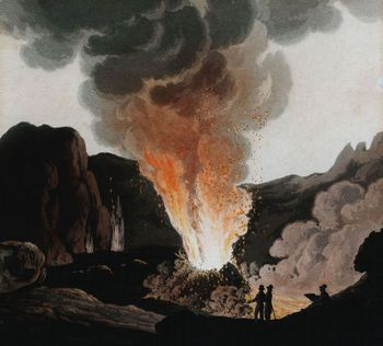 Eruption of Mt. Vesuvius