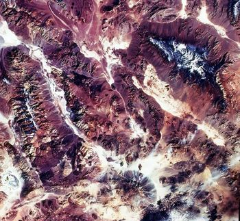 Aerial view of Death Valley, California