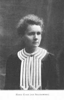 Portrait of physicist Marie Curie
