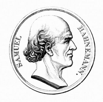 Commemorative medal of German physician, Samuel Hahnemann