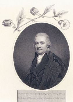 Portrait of Scottish physician Daniel Rutherford