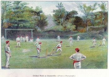 Cricket Field at Bournville, England, 1892