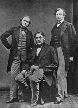Portrait of 19th century physicists and chemists