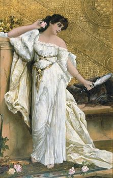 French woman in white dress
