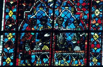 Stained glass window from the Cathedral of Chartres, France