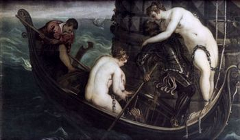The rescue of Arsinoe painting by Tintoreto