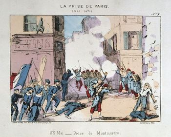 Street fighting during Franco Prussian War, 1871