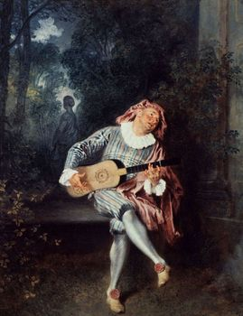 The Musician painting by Jean-Antoine Watteau
