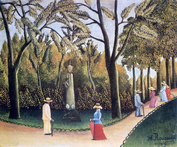 The Luxembourg Gardens by Henri Rousseau