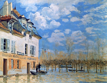 The Boat in the Flood by Alfred Sisley
