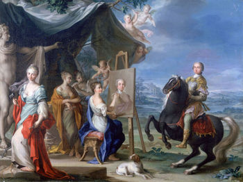 Equestrian Portrait of a Nobleman by Ignaz Stern