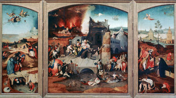Triptych of the Temptation of St Anthony painting