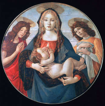 The Virgin and Child with Saint John and an Angel painting