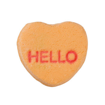 Candy heart with message