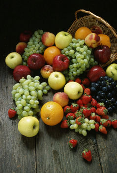 Pile of various fruits