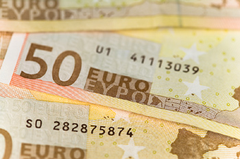 Close-up of euros