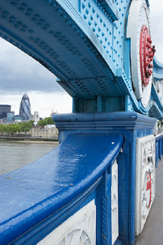 Detail of Tower Bridge, London, England