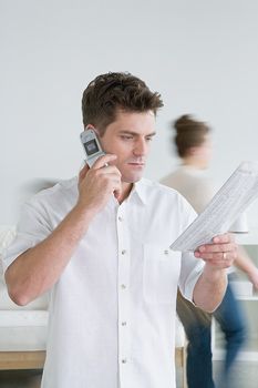 Man talking on cell phone