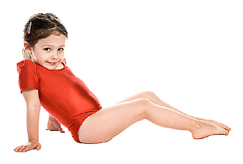Girl wearing leotard