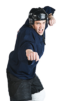 Hockey player ready to fight