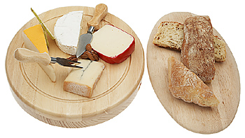 Variety of gourmet cheese and bread