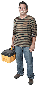 Man carrying toolbox
