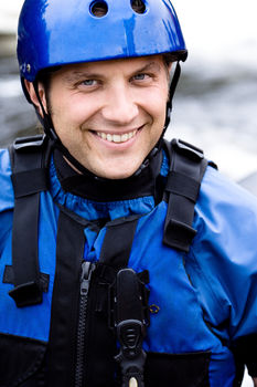 Portrait of kayaker outdoors