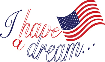 I have a dream with American flag