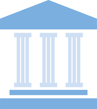 Classical architecture with columns