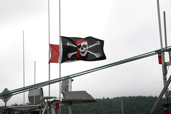 Pirate flag outdoors