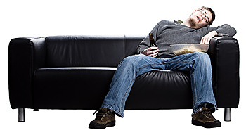 Man passed out on couch