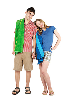Couple with towels