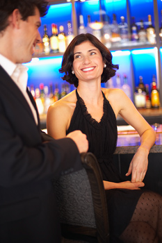 Couple in a bar
