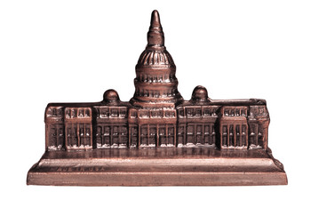 Model of United States capitol building