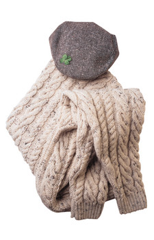Wool sweater and cap
