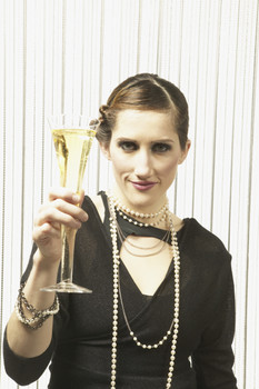 Woman Holding Champagne Flute