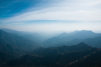 View of mountains, Sequoia National Park, California