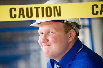 Worried foreman at construction site