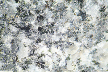 Magnified view of surface of granite