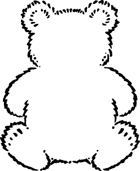 Coloring page with outline of teddybear
