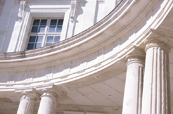 Building exterior with columns