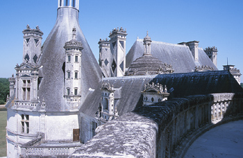 View of baroque towers from balcony