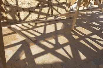 Shadow of house frame